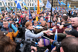 Independence Rally, Glasgow, Saturday 2nd November 2019<br /> <br /> Pictured: Nicola Sturgeon meets the crowds<br /> <br /> Alex Todd | Edinburgh Elite media