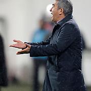 Besiktas's coach Samet Aybaba during their Turkish superleague soccer match Besiktas between MP Antalyaspor at BJK Inonu Stadium in Istanbul Turkey on Monday, 15 April 2013. Photo by Aykut AKICI/TURKPIX