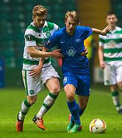 05/11/15 UEFA EUROPA LEAGUE GROUP STAGE<br /> CELTIC v MOLDE FK<br /> CELTIC PARK - GLASGOW<br /> Celtic's Stuart Armstrong (left) battles with Eirik Hestad