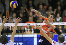 Jasmin Cuturic of ACH Volley at volleyball match of CEV Indesit Champions League Men 2008/2009 between ACH Volley Bled (SLO) and Beauvais Oise (FRA), on December 11, 2008 in Hala Tivoli, Ljubljana, Slovenia. (Photo by Vid Ponikvar / Sportida)