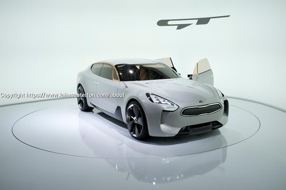 KIA GT concept car at Frankfurt Motor Show or IAA 2011 in Germany
