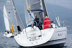 Day 2 Sailing, SCOTLAND<br /> <br /> Class 10, Micky Finn IV, Dufour 40, 4050C<br /> <br /> The Scottish Series, hosted by the Clyde Cruising Club is an annual series of races for sailing yachts held each spring. Normally held in Loch Fyne the event moved to three Clyde locations due to current restrictions. <br /> <br /> Light winds did not deter the racing taking place at East Patch, Inverkip and off Largs over the bank holiday weekend 28-30 May. <br /> <br /> Image Credit : Marc Turner / CCC