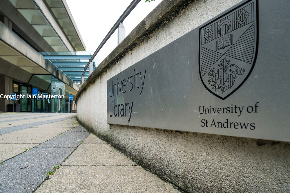 Exterior of University Library at University of St Andrews, Fife, Scotland