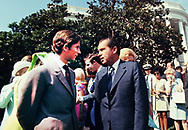 Prince Charles and Nixon on the South Lawn of the White House in July 1970  photo by Dennis Brack bb72
