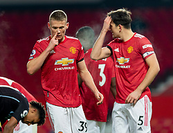 MANCHESTER, ENGLAND - Friday, January 1, 2020: Manchester United's Scott McTominay blows his nose during the New Year's Day FA Premier League match between Manchester United FC and Aston Villa FC at Old Trafford. The game was played behind closed doors due to the UK government putting Greater Manchester in Tier 4: Stay at Home during the Coronavirus COVID-19 Pandemic. (Pic by David Rawcliffe/Propaganda)