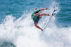 July 31, 2018 - Huntington Beach, California, United States - Huntington Beach, CA - Tuesday July 31, 2018: Mihimana Braye in action during a World Surf League (WSL) Qualifying Series (QS) Men's round of 96 heat at the 2018 Vans U.S. Open of Surfing on South side of the Huntington Beach pier. (Credit Image: © Michael Janosz/ISIPhotos via ZUMA Wire)