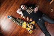 BALTIMORE, MD -- 12/22/14 -- Benjamin Jancewicz, 31, a designer from Baltimore, with his son, Arion Jancewicz, 6, talks about the complexity of being a biracial family.…by André Chung #_AC23917
