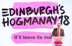 Launch of Edinburgh's Hogmanay programme 18 July 2017; Councillor Donald Wilson, Culture and Communities Convener for the City of Edinburgh Council, talks during the programme launch for Edinburgh's Hogmanay festivities at Mansfield Traquair Centre, Edinburgh.<br /> <br /> (c) Chris McCluskie   Edinburgh Elite media