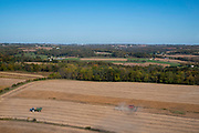 Aerial image over Dane County, Wisconsin on a beautiful morning.
