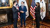 February 03, 2021 (Worldwide): Kamala Harris Swears In Pete Buttgieg As Secretary Of DOT
