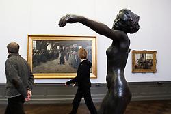 Sculpture inside the Alte Nationalgalerie in Berlin Germany 2009