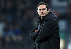 Derby County manager Frank Lampard during the Emirates FA Cup, third round match at Pride Park, Derby.