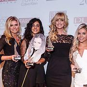 NLD/Amsterdam/20131111 - Beau Monde Awards 2013, winnares Nicolette van Dam, Toprak Yalciner, winnares Daphne Deckers, winnares Yvonne Coldeweijer