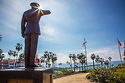 The Marine Monument at Park Semper Fi Overlooking the Pier in San Clemente California