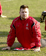 © Peter Spurrier/ Intersport, Images  020 8 876 8611<br /> email images@Intersport,.co.uk<br /> Photo Peter Spurrier<br /> 19/03/2003<br /> Sport - Rugby - Six Nations Championships:<br /> England Squard Training at Pennyhill Park<br /> Mark Regan