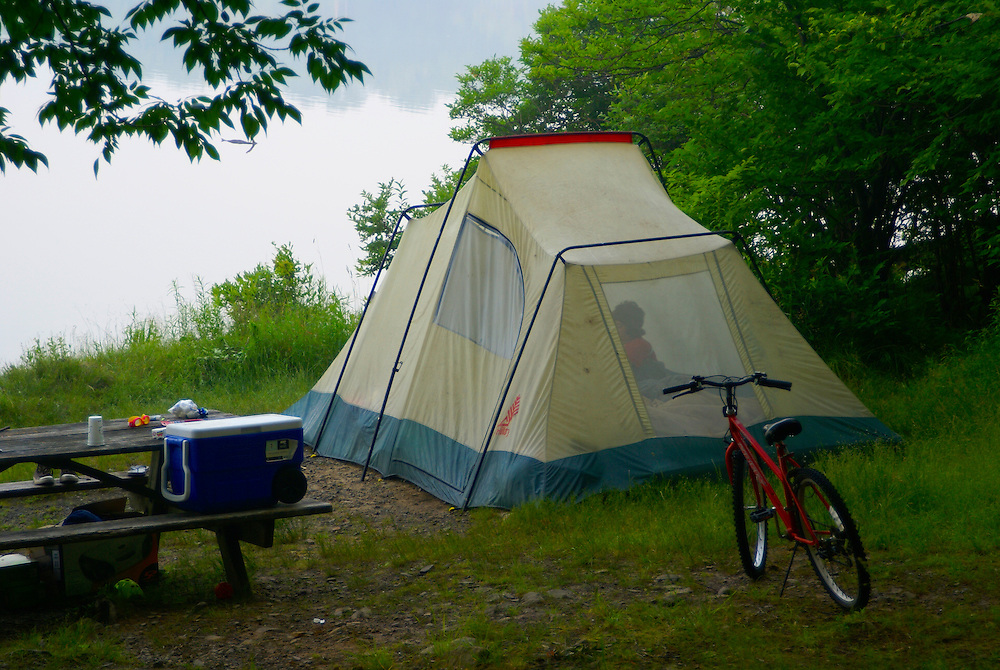 Pocono Mountains, Promised Land State Park tent camping