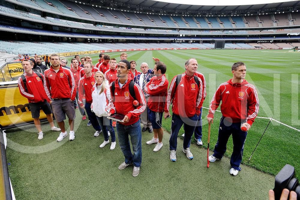 MELBOURNE - Champions Trophy men 2012<br /> England on a tour of the MCG<br /> FFU PRESS AGENCY COPYRIGHT FRANK UIJLENBROEK