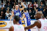 DESCRIZIONE : Varese Lega A 2013-14 Cimberio Varese Acqua Vitasnella Cantu<br /> GIOCATORE : Pietro Aradori Marco Cusin<br /> CATEGORIA : Ritratto Esultanza<br /> SQUADRA : Acqua Vitasnella Cantu<br /> EVENTO : Campionato Lega A 2013-2014<br /> GARA : Cimberio Varese Acqua Vitasnella Cantu<br /> DATA : 15/12/2013<br /> SPORT : Pallacanestro <br /> AUTORE : Agenzia Ciamillo-Castoria/G.Cottini<br /> Galleria : Lega Basket A 2013-2014  <br /> Fotonotizia : Varese Lega A 2013-14 Cimberio Varese Acqua Vitasnella Cantu<br /> Predefinita :