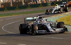 March 16, 2019 - Melbourne, Australia - LEWIS HAMILTON (GBR, Mercedes AMG Petronas Motorsport) during qualifying before taking his 6th consecutive pole position for FIA Formula One World Championship Grand Prix of Australia. (Credit Image: © Hoch Zwei via ZUMA Wire)