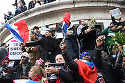"""People of all creeds and colours come together to protest in this massive public rally """"Cry for Freedom"""" takes place in central Paris on Sunday afternoon. The rally brought in people of all colors and creeds from both France and abroad. Many were carrying placards with various slogans. This demonstration happened the weekend after armed gunmen attacked the offices of Charlie Hebdo, killing twelve people, including the editor and celebrated cartoonists; four more are in critical condition. It is the dealiest terror attack in France for over fifty years. Charlie Hebdo is a satirical publication well known for its political cartoons. The jihadists responsible were killed by police in several shootouts on the Friday afternoon. <br /><br />As a solidarity actions with the deaths at Charlie Hebdo many placards read """"Je suis Charlie"""" translating as """"I am Charlie (Hebdo)"""". Demonstrators held aloft pens, brushes and crayons, symbolizing the profession of journalists and cartoonists who were killed. Many pens were placed in a shrine with candles in the square. Some protesters also refused to ally themselves with Charlie Hebdo."""