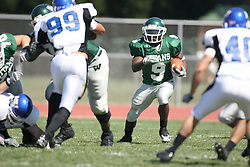 15 September 2007:  Marcus Dunlop looking for room to run. The Titans stood toe to toe with the 25th ranked Lions through the first half but ended the game on the losing end of a 25-15 score at Wilder Field on the campus of Illinois Wesleyan University in Bloomington Illinois.