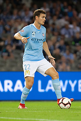 February 23, 2019 - Melbourne, VIC, U.S. - MELBOURNE, VIC - FEBRUARY 23: Melbourne City defender Curtis Good (22) looks to pass at round 20 of the Hyundai A-League Soccer between Melbourne City FC and Melbourne Victory on February 23, 2019 at Marvel Stadium, VIC. (Photo by Speed Media/Icon Sportswire) (Credit Image: © Speed Media/Icon SMI via ZUMA Press)