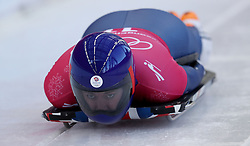 Great Britain's Lizzy Yarnold during Womens Skeleton practice on day three of the PyeongChang 2018 Winter Olympic Games in South Korea.