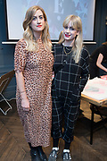 NO FEE PICTURES<br /> 12/4/18 Eleanor and Steph Hutch, Clonskeagh, at the launch of Jenny Huston and Leah Hewson's jewellery and fine art collaboration, Edge Only x Leah Hewson at The Dean Dublin. Arthur Carron