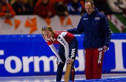 04-01-2003 NED: Europees Kampioenschappen Allround, Heerenveen<br /> 1500 m - Renate Groenewold NED, Gerard Kemkers
