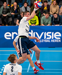 Wessel Anker #6 of Sliedrecht Sport in action in the second round between Sliedrecht Sport and Draisma Dynamo on February 29, 2020 in sports hall de Basis, Sliedrecht