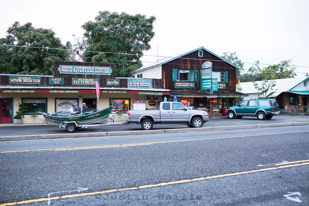 The town of Shady Cove on the  Rogue River in southern Oregon.