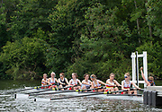 Henley on Thames, England, United Kingdom,  Sunday,  23.06.19,   St Paul's Girls and Tideway Scullers School, composite, at the Start, Semi Final of J 8+Henley Women's Regatta, Henley Reach,  Karon PHILLIPS/Intersport Images,<br /> , <br /> 12:03:03