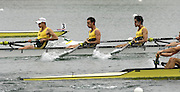 Munich, GERMANY, Start LM4-, NED LM4-, AUS LM4-, IRL LM4-, 2006, FISA, Rowing, World Cup, Star men's light weight fours semi- final  held on the Olympic Regatta Course, Munich, Fri. 26.05.2006. © Peter Spurrier/Intersport-images.com,  / Mobile +44 [0] 7973 819 551 / email images@intersport-images.com.[Mandatory Credit, Peter Spurier/ Intersport Images] Rowing Course, Olympic Regatta Rowing Course, Munich, GERMANY