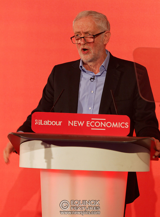 London, United Kingdom - 10 February 2018<br /> Leader of the Labour Party Jeremy Corbyn, speaking at the Labour Party's Alternative Models of Ownership Conference where he spoke about new 21st century forms of democratic ownership of industries.<br /> www.newspics.com/#!/contact<br /> (photo by: EQUINOXFEATURES.COM)<br /> Picture Data:<br /> Photographer: Equinox Features<br /> Copyright: ©2018 Equinox Licensing Ltd. +448700 780000<br /> Contact: Equinox Features<br /> Date Taken: 20180210<br /> Time Taken: 15571778