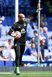 Everton's Tim Howard warms up - Mandatory byline: Matt McNulty/JMP - 07966386802 - 08/08/2015 - FOOTBALL - Goodison Park -Liverpool,England - Everton v Watford - Barclays Premier League