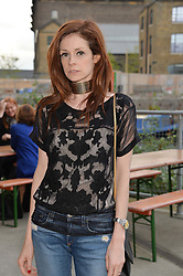 STEPHANIE LA CAVA at a supper and screening of 'No More Tiaras' a film by Mary Nighy held at Shrimpy's, King's Cross Filling Station, Goods Way, London on 7th May 2014.