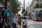 Bus Stop, Oxford St. London, 21 July 2016