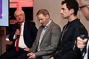 25/09/2018 Repro free: <br /> Chairman of the Race Committee Peter Allen,   GM GAlway Race Course Michael Moloney, National Hunt jockey Patrick Mullins and MC James Heaslip at the launch of Galway Racecourse  details of their new and exciting three-day October Festival that takes place over the Bank Holiday weekend, Saturday 27th, Sunday 28th and Monday 29th continuing racing and glamour into the Autumn.<br />   Each of the three race days offers something for all the family to enjoy, with a special theme attached to each day, together with fantastic horse racing, live music, delicious hospitality, entertainment and of course the meeting of old friends and new at Ballybrit.  <br /> Halloween Family Fun <br /> On Saturday 27th October come along with your children and grand children and enjoy the 'Spooktacular' Halloween themed family fun day with lots of entertainment including a fancy-dress competition, Halloween games and face painting to mention but a few!! All weekend children under 16 years of age have free admission. <br /> Race in Pink <br /> As part of this new October Festival and with-it being Breast Cancer Awareness month, Galway Racecourse have partnered with The National Breast Cancer Research Institute to host a dedicated fundraiser on Sunday 28th October called 'Race in Pink'.  <br /> <br /> Student Race Day in aid of the Voluntary Services Abroad <br /> Monday sees the return of our annual 'Student Race Day' in conjunction with the Voluntary Services Abroad (a medical aid charity run by the fourth-year medical students of NUI, Galway), and the NUIG Rugby Club.  Each year, this fundraising day for the student organisations raises a tremendous amount of money for their chosen projects including the VSA annual summer volunteer trip to Africa where they use the funds raised to help projects at the hospitals they visit. <br />  National hunt racing on Saturday kicks off at 2.05pm with racing Sunday and Monday off at 1.05pm. Adult admission on all three da