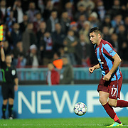 Trabzonspor's Burak YILMAZ during their UEFA Champions League group stage matchday 4 soccer match Trabzonspor between CSKA Moskva at the Avni Aker Stadium at Trabzon Turkey on Wednesday, 02 November 2011. Photo by TURKPIX