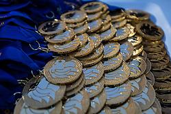 Britbowl 2016 gold medals  - Mandatory by-line: Jason Brown/JMP - 27/08/2016 - AMERICAN FOOTBALL - Sixways Stadium - Worcester, England - London Warriors v London Blitz - BAFA Britbowl Finals Day