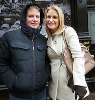 Padraig Fox and Tracy Lynch from Navan after the 1916 centenary celebrations on O'Connell Street.<br />Photo: Tony Gavin 27/3/2016