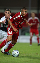 Slubben & Anto Farndic.<br /> Falkirk 1 v 0 FC Vaduz, Europa League Qualifying.<br /> ©2009 Michael Schofield. All Rights Reserved.