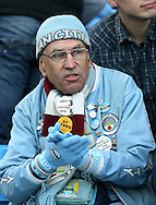 A Manchester City fan watches the match - Barclays Premier League - Manchester City vs Manchester Utd - Etihad Stadium - Manchester - England - 2nd November 2014  - Picture David Klein/Sportimage