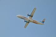 Arkia Airlines ATR 72 Propellor aeroplane seen from below
