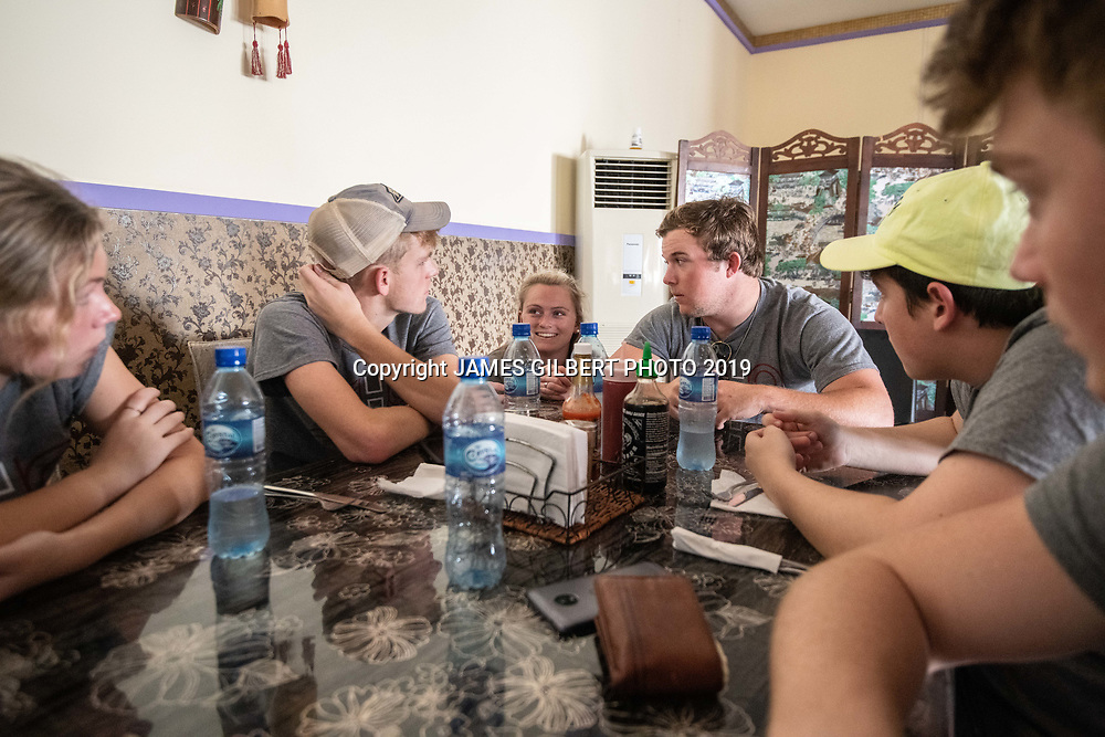 Matt Davis <br /> Sarah Raynor <br /> James Drysdale <br /> Payton Clark <br /> Bryce Vandenbord <br /> Seamus Dougherty <br /> <br /> St Joe mission trip to Belize 2019. JAMES GILBERT PHOTO 2019