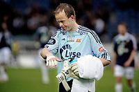 Fotball , tippeligaen , 21. Mai 2009 , Viking Stadion , Viking - Stabæk , en tung Thomas Myhre går i garderoben etter tabbekamp, Foto: Tommy Ellingsen