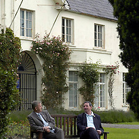 Cllrs. Sean Grady, left and Michael Courtney outside the closed Killarney House.<br /> Picture by Don MacMonagle<br /> Story by Donal Hickey