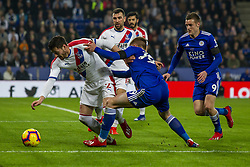 February 23, 2019 - Leicester, England, United Kingdom - It's all hands from Harvey Barnes of Leicester City as he tries to wrestle the ball from Joel Ward of Crystal Palace during the Premier League match between Leicester City and Crystal Palace at the King Power Stadium, Leicester on Saturday 23rd February 2019. (Credit Image: © Mi News/NurPhoto via ZUMA Press)