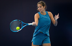 September 28, 2018 - Julia Goerges of Germany practices at the 2018 China Open WTA Premier Mandatory tennis tournament (Credit Image: © AFP7 via ZUMA Wire)