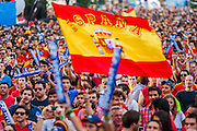 Fans with a Spanish flag